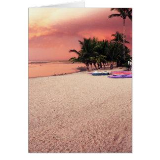 gambian sunset greeting card