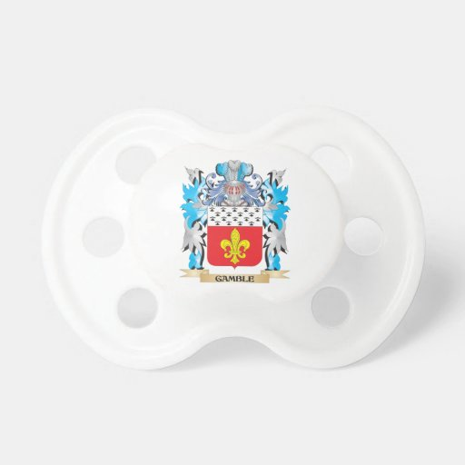 Gamble- Coat of Arms - Family Crest Baby Pacifier