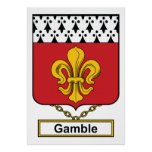 Gamble Family Crest Posters