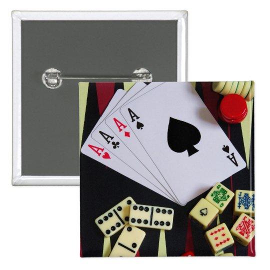 gambler 15 cm square badge