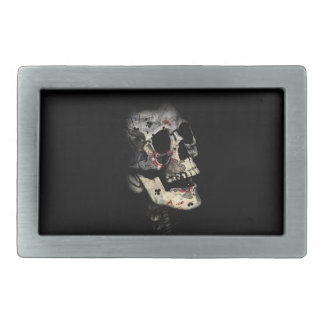 Gambler Death Skull Belt Buckles