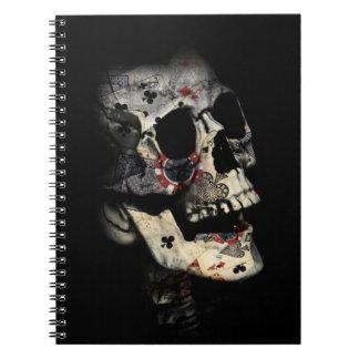 Gambler Death Skull Notebook