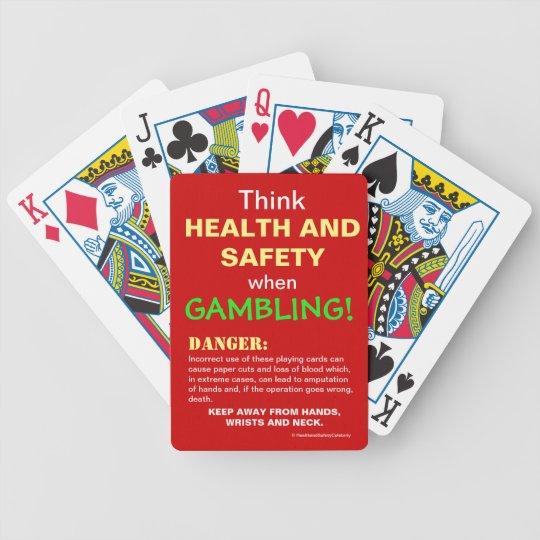 Gambler Health and Safety Funny Joke Warning Bicycle