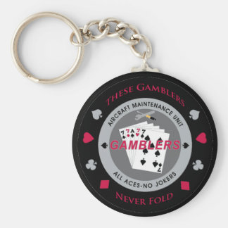 Gambler Key Chain With Suits