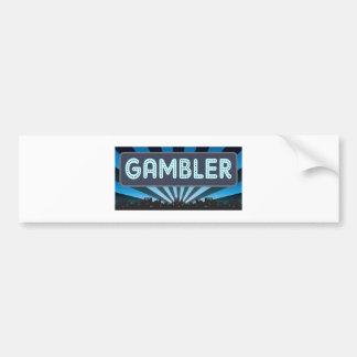Gambler Marquee Bumper Sticker