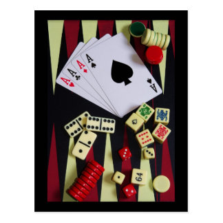gambler postcard