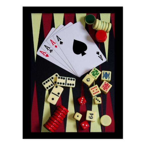 gambler post card