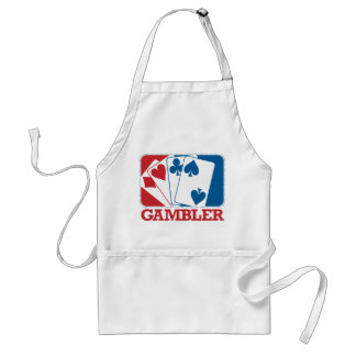 Gambler - Red and Blue Adult Apron