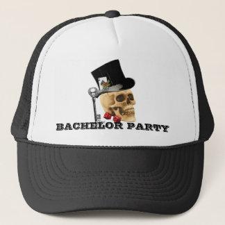 Gambler skull bachelor party trucker hat