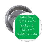 Gambler's Math Pinback Button