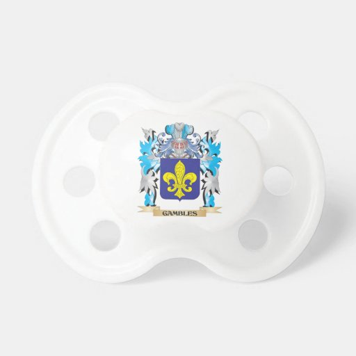 Gambles Coat of Arms - Family Crest Pacifiers