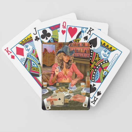 GAMBLIN' COWGIRL BICYCLE PLAYING CARDS