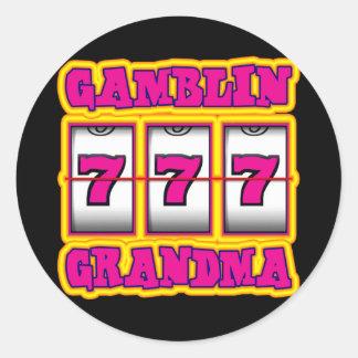 GAMBLIN GRANDMA ROUND STICKER