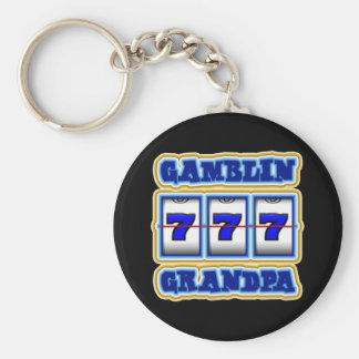 GAMBLIN GRANDPA BASIC ROUND BUTTON KEY RING