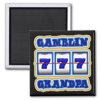 GAMBLIN GRANDPA SQUARE MAGNET