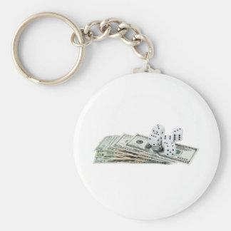 Gambling030709-3 copy basic round button key ring
