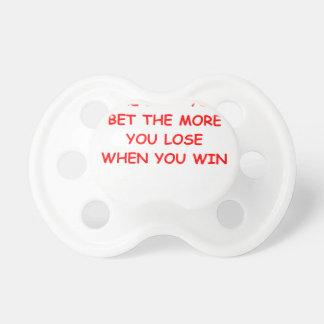 gambling baby pacifiers