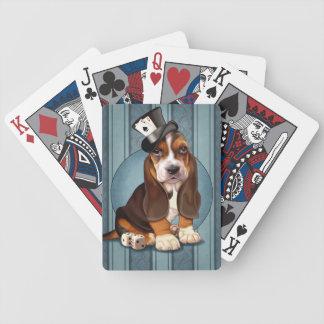 Gambling Basset Hound Puppy Bicycle Playing Cards