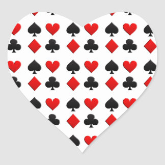 Gambling Cards Suits Heart Sticker