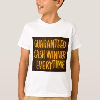Gambling Casino Cash Winner Sign Neon Lights T-Shirt