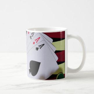 Gambling casino gaming pieces basic white mug