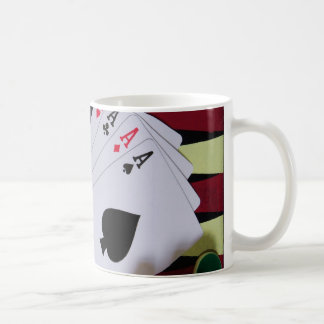 Gambling casino gaming pieces coffee mug