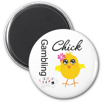 Gambling Chick Refrigerator Magnets
