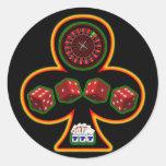 GAMBLING CLUB ROUND STICKERS