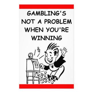 gambling customised stationery