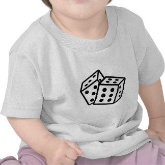 gambling dice cubes casino tshirt