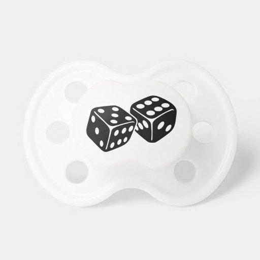Gambling dice baby pacifier