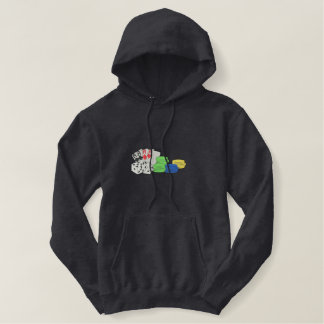 Gambling Embroidered Hooded Sweatshirts