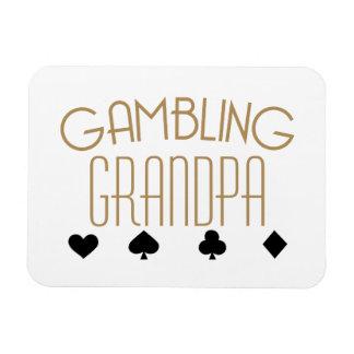 Gambling Grandpa Rectangular Photo Magnet