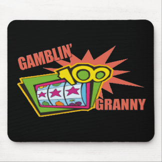 Gambling Granny T-shirts and Gifts For Her Mouse Pad