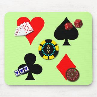 GAMBLING ICONS MOUSE PAD