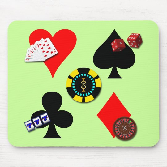 GAMBLING ICONS MOUSE PAD