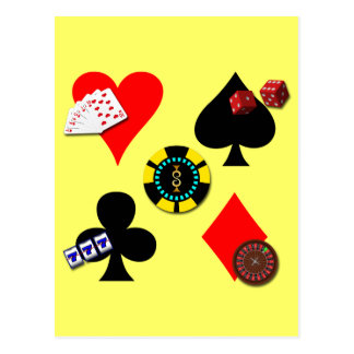 GAMBLING ICONS POSTCARD
