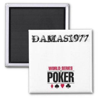 GAMBLING SQUARE MAGNET