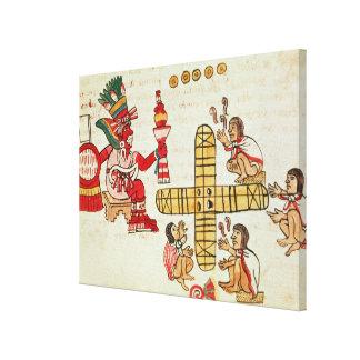 Gambling Patoli and the god Canvas Prints