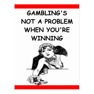 GAMBLING POSTCARD