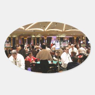 Gambling Roulette Casino Gamble Money Vegas Oval Sticker