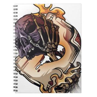 Gambling Skull Death Skeleton Poker Spiral Note Book