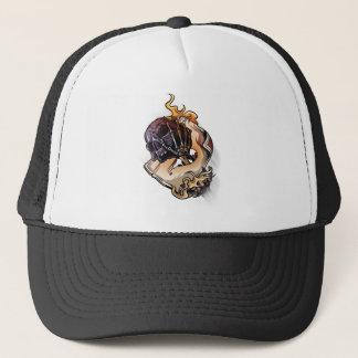 Gambling Skull Death Skeleton Poker Trucker Hat