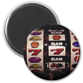 Gambling, slot machines 6 cm round magnet