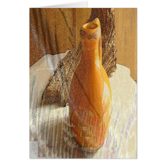 Gamboge Pitcher Fine Art Greeting Card