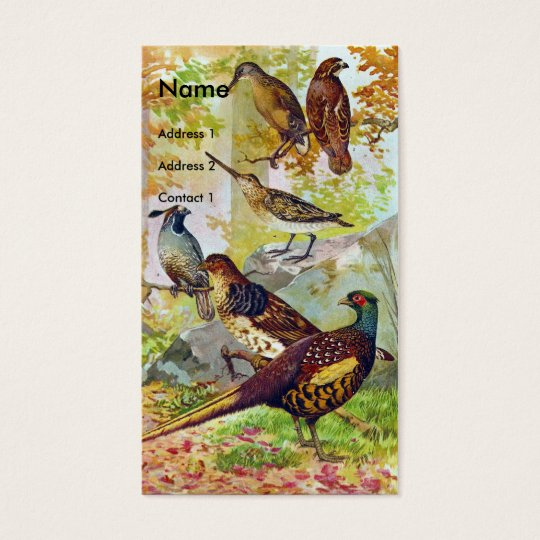 Game Birds Business Card
