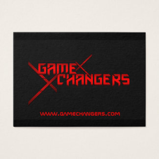 Game Changers Motivational Business Card