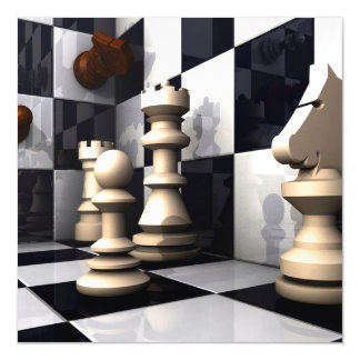 Game Chess Hobby Magnetic Invitations