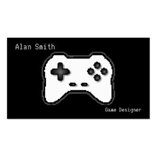 Game Controller Black White 8bit Video Game Style Pack Of Standard Business Cards