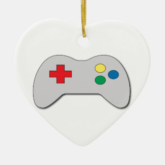 Game Controller Ceramic Heart Decoration